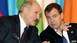 Президенты России и Белоруссии