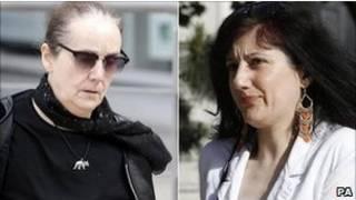 Hazel e Jasmine Maddock antes do julgamento (Foto: PA)
