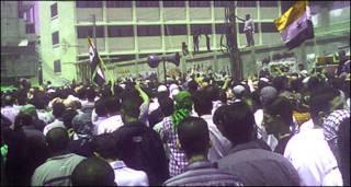 सीरिया - दमिश्क में प्रदर्शन