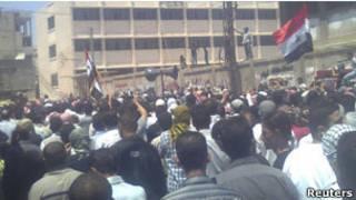 敘利亞再度出現反政府大規模示威