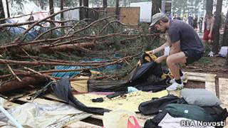 """""""Селигер-2011"""" - последствия урагана"""