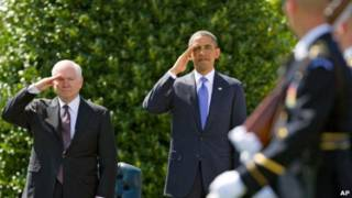 رابرت گیتس، وزیر دفاع آمریکا و باراک اوباما، رئیس جمهور این کشور