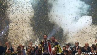 "Фанаты ""Фенербахче"" на стадионе"