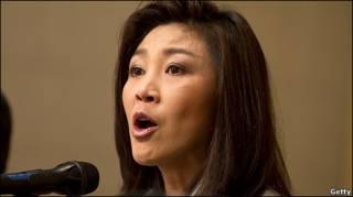 Bà Yingluck Shinawatra nói chuyện với báo chí hôm 4/7