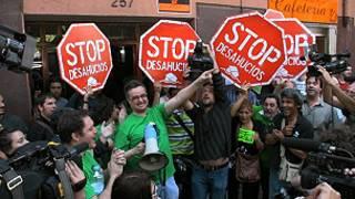 Manifestación en contra de los deshaucios (Foto: Plataforma Afectados por la Hipoteca)