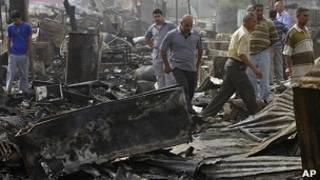 انفجار در شهر تاجی، در شمال بغداد