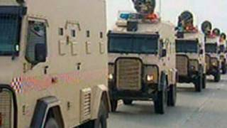 آليات عسكرية سعودية في البحرين