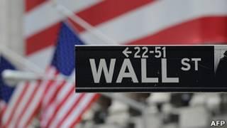 Letrero de Wall Street