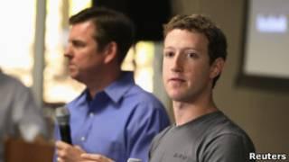 Mark Zuckerberg (derecha)