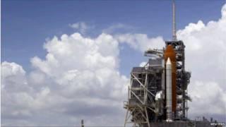 سکوی پرتاب در مرکز فضایی کندی