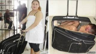 سجين يهرب داخل حقيبة في المكسيك