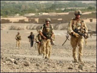 在阿富汗的英国士兵