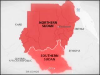 ramani ya Sudan na Sudan Kusini