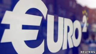 Símbolo do Euro.