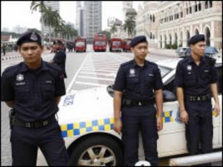 Cảnh sát tại Kuala Lumpur của Malaysia