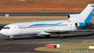 Самолет авиакомпании Hewa Bora