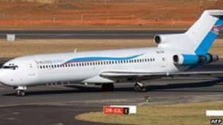 Boeing 727 da Hewa Bora no Congo
