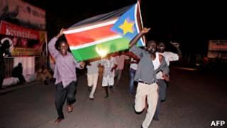 Жители Джубы отмечают первый день независимости