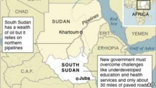 Taswirar jamhuriyar Sudan da kuma kasar Sudan ta Kudu