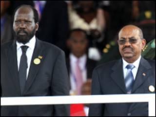 Shugaba Salva Kiir da shugaba Omar al Bashir