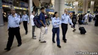 الشرطة الإسرائيلية مستنفرة في مطار إسرائيلي