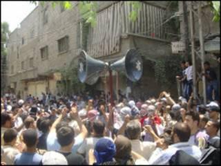 Masu zanga zanga a Syria