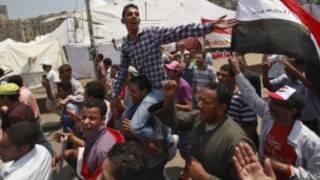 متظاهرون في التحرير