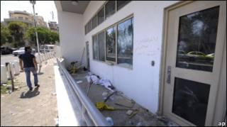 Посольство США в Дамаску після нападу