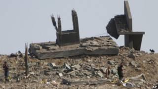На месте разрушенной базы