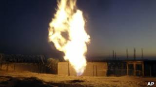Пожар на газопроводе в Египте
