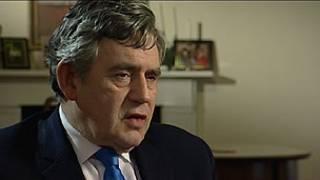 Gordon Brown em entrevista à BBC