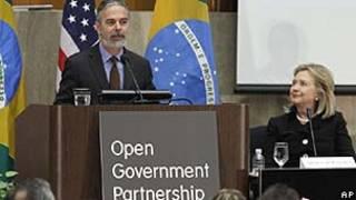 Antonio Patriota e Hillary Clinton/AP