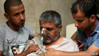 احد المتسممين بتسرب الكلور في بغداد