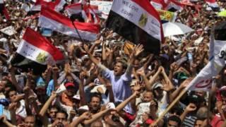 مظاهرة تطالب بتنحي المجلس العسكري