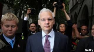 Julian Assange Foto: Getty