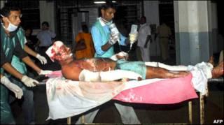 धमाकों में घायल