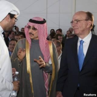 الوليد بن طلال مع روبرت مردوخ