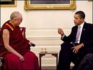 اوباما او دالای لاما