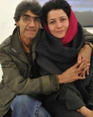 مرضیه وفامهر و همسرش ناصر تقوایی (عکس از فیسبوک طرفداران مرضیه وفامهر)