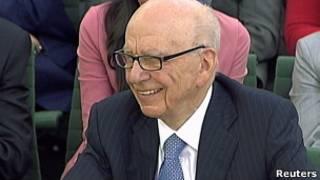 Rupert Murdoch no Parlamento britânico. Foto: Reuters
