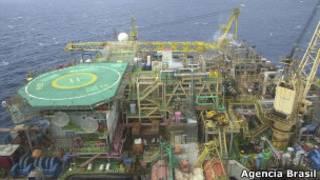 Plataforma de petróleo da Petrobrás