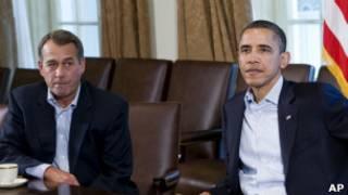 اوباما و بینر