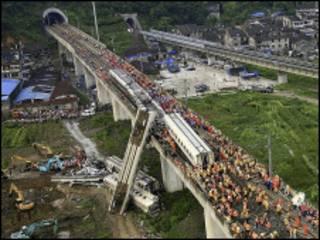 चीन ट्रेन दुर्घटना