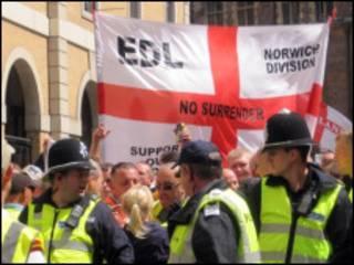 英国极右翼游行示威
