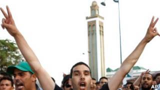 متظاهر في المغرب