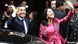 Ollanta Humala, presidente de Perú y la primera dama