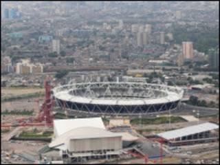 建设中的伦敦奥运园区