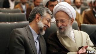 محمد تقی مصباح یزدی، غلامعلی حداد عادل