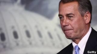 O presidente da Câmara dos Representantes, republicano John Boehner (Getty)