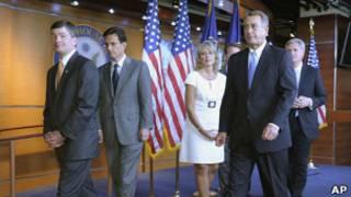 Джон Бейнер и другие лидеры республиканцев в палате представителей США